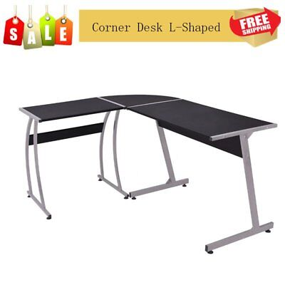 L-Shaped Corner Desk Computer Office PC Laptop Table Home Office Study Table UK