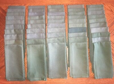 Lot Of 50 Green Linen Napkins Restaurant Foodservice Polyester