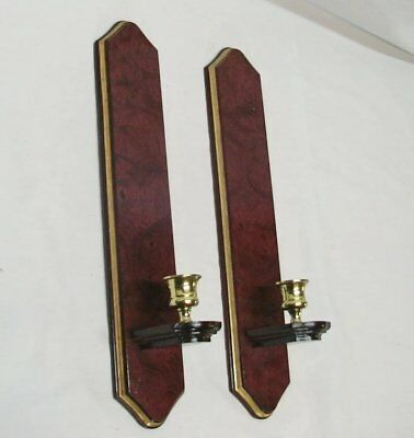 Home Interior Homco(Set Of Two)Beautiful Canterbury Mirrored Wood Sconces""