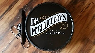 Dr McGillicuddy's Intense Schnapps Double Sided Pub Light Sign