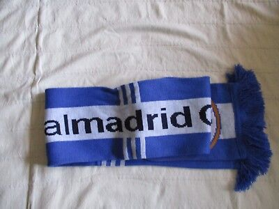 NWT REAL MADRID Official Team Blue/White Scarve 100% Arcrylic One Size