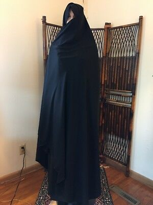 Traditional Plain Chador Black Plain Women's Chador One Size - Iranian style