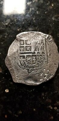 Phillip Ii Spain Piece Of 8 Reales Silver Shipwreck Coin 26 Grams Great Detail