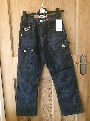 Ripstop Boys Jeans Age 9yrs Bnwt Knee Detail Blue Faded