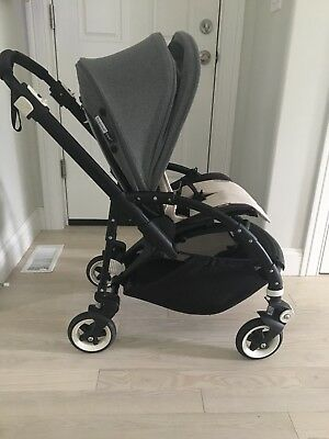 Bugaboo Bee 3 Grey Melange With Cup Holder And Seat Liner
