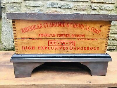 Vintage/Antique American Dynamite Wood Box Chest