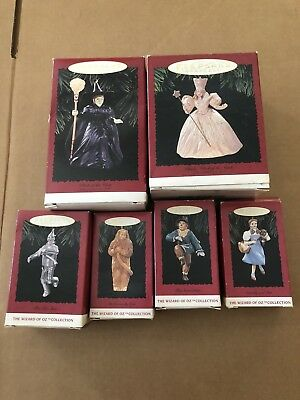 Lot Of 6 Wizard Of Oz Hallmark Keepsake Christmas Ornaments 1994-96