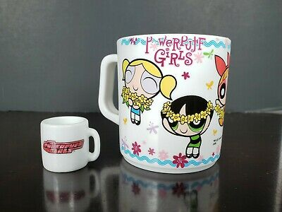 2006 CARTOON NETWORK POWERPUFF GIRLS PLASTIC CUP All Time CN 2000s TV Show Anime