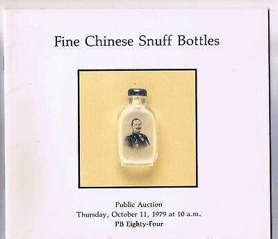 PB Eighty-Four Auction Catalog, Chinese Snuff Bottles, October 11,1979