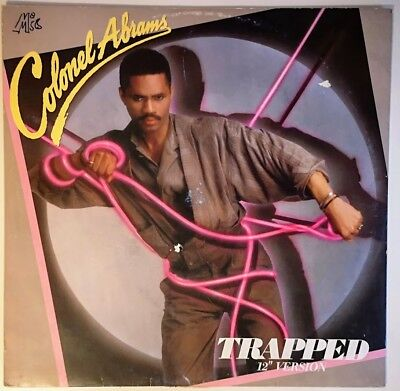 "Colonel Abrams ‎– Trapped (incl. A Cappella Version) 12"" Vinyl Maxi"