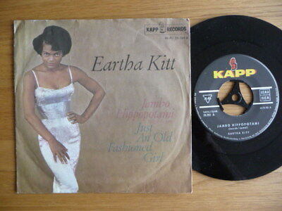 "7""  Eartha Kitt ‎– Jambo Hippopotami / Just An Old Fashioned Girl Germany"