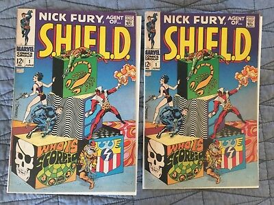 Rare 1968 Silver Age Nick Fury, Agent Of Shield #1 Key 1St Issue Pair Nice