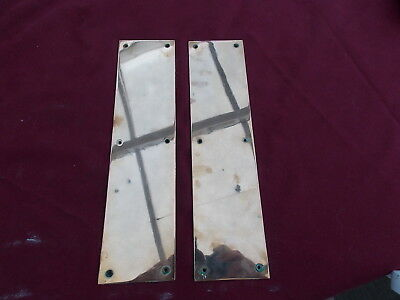 Splendid pair of vintage Georgian antique reclaimed brass highly polished Finger