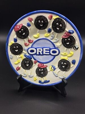 Nabisco OREO Cookie Block China 9'' Round 3D Plate Classics Collection
