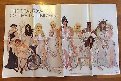 """THE REAL POWER OF THE DC UNIVERSE ADAM HUGHES POSTER RARE WOMEN - 24"""" x 39"""""""