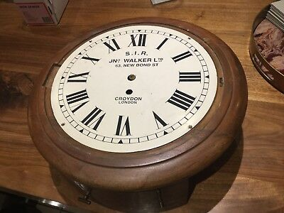 Fusee Wall Clock Antique Mahogany 8 Day Timepiece