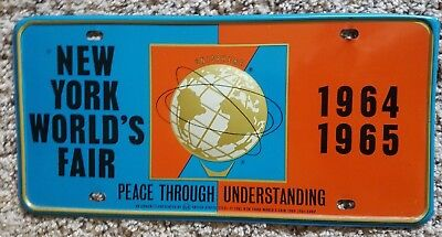 Vintage 1964-1965 New York World's Fair Full Size Unisphere License Plate