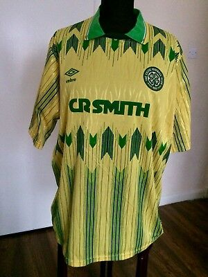 d48a36c42 GLASGOW CELTIC 1989-91 Away Umbro Football Shirt Jersey Size Large ...