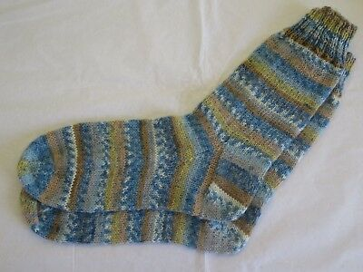 1 x Pair Ladies/Girls Hand Knitted Socks in 4Ply to Fit Shoe size 4-6