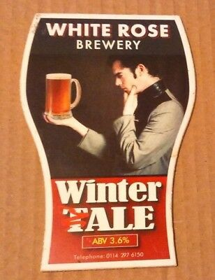 Beer pump clip badge front WHITE ROSE brewery WINTER TALE cask ale Yorkshire