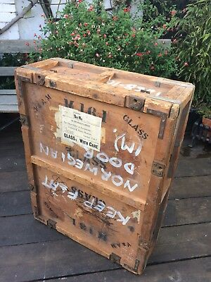 Original Antique Vintage Wooden Crate /chest from VICTORIA & ALBERT MUSEUM
