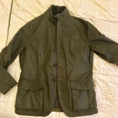 Jacket 42 Green Wax Ralph Mens Lauren Polo Olive R Cotton Size 8nwPX0kO