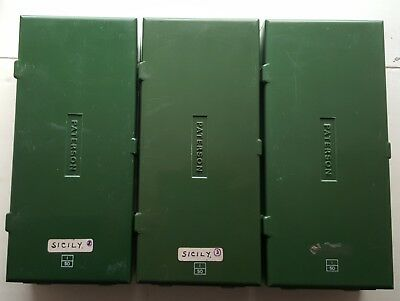 3 x Vintage Paterson 100 capacity 35mm slide boxes. As seen.