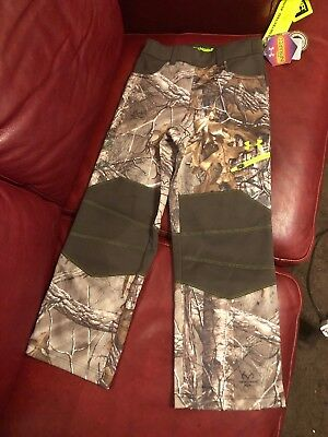 Boys Camouflage Realtree Under Armour Coldgear Size Youth YSM Small