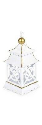 Darling New Metal Chinoiserie Shanghai White  Ornaments place card holder 7 inch