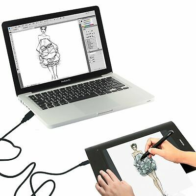 """USB Art Graphic Drawing Tablet Painting 2048 Pen 10×6.25"""" Huion H610 PRO+ Gift"""