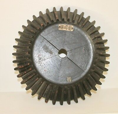 Vintage Industrial Wood Cog With Teeth Gear Mold Steampunk