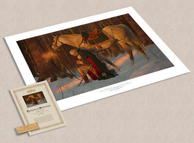 Arnold Friberg PRAYER AT VALLEY FORGE 17x27 Paper Art Print George Washington
