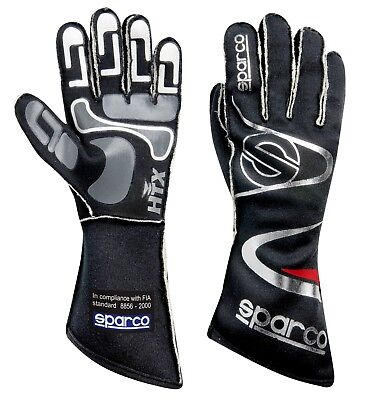 Sparco Arrow h7 Racing Gloves Black/Silver   Large       SFI & FIA rated   NEW