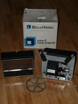 Vintage BELL & HOWELL Super 8 Model # 198 L Movie Motion Picture Projector