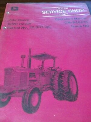 John Deere 5020 Tractor Operator's Manual New Old Stock