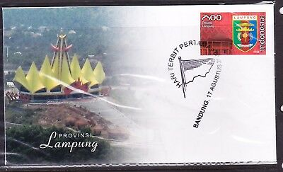 Indonesia Provinces 2009 Lampung First Day Cover