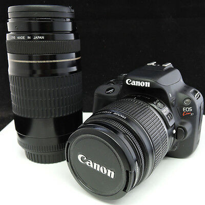 Canon Cámara SLR Digital Eos Kiss X7 Rebel SL1 EF-S18-55mm Ef 75-300mm Wlens