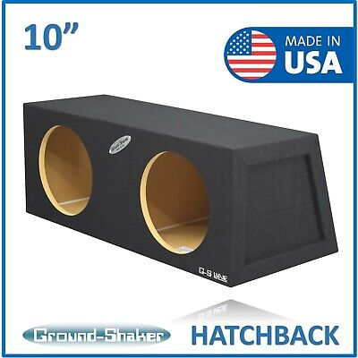 """Dual 10 inch Subwoofer Box Sealed Hatchback 3//4/"""" Particle Board 1.24 Cu Ft Air"""