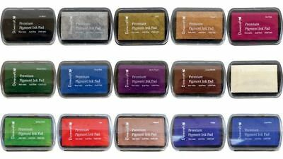 Dovecraft Premium Pigment Craft Inkpad Ink Pad Rubber Stamps 15 Colours