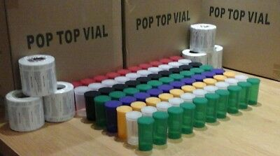 80 x WEED Squeeze pop top pots 19Dram & 13Dram and 80 FREE Rx medical labels