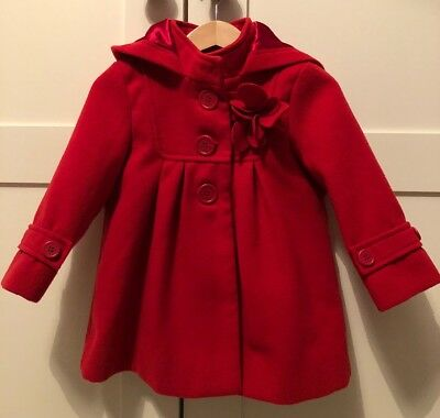 Monsoon Red Coat Age 18-24 Months