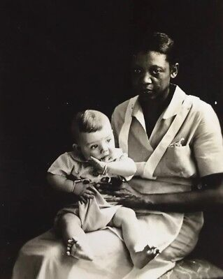 Original Antique Photo African American Nanny With Baby Child
