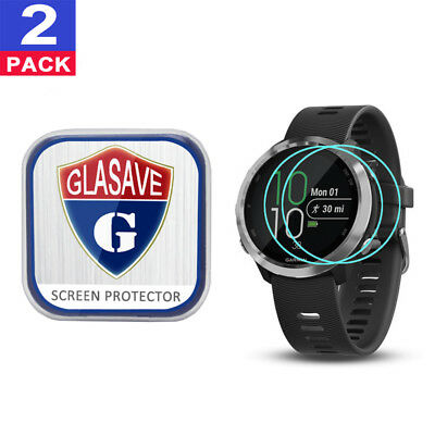 (2Pack) GLASAVE Garmin Forerunner 645/ 645 music Tempered Glass Screen Protector