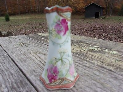 Antique Nippon Hatpin Hair Pin Holder Hand Painted