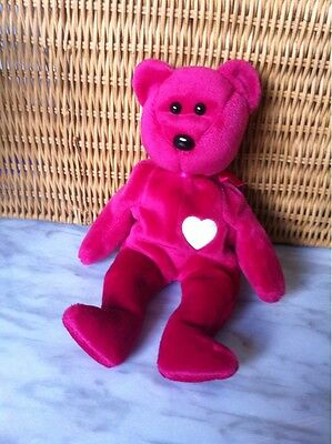 Ty Beanie Babies Collection Valentina Bear Plush Stuffed Animal Toy 1999