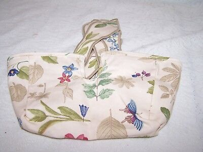 LONGABERGER BOTANICAL FIELDS LINER for SMALL BARBEQUE BUDDY BASKET    BBQ
