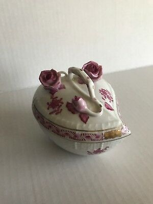 Herend Hungary Porcelain Lidded Bon Bon Dish in Chinese Bouquet #6003/RO.