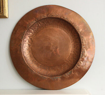 A Large c20th Copper Charger, Hand Planished