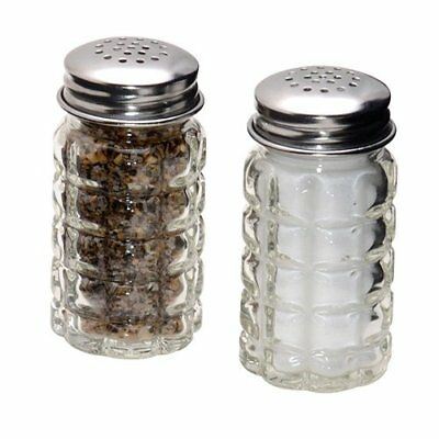 Retro Style Salt and Pepper Shakers with Stainless Tops 2