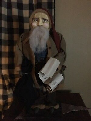 "Arnett's Country Store Primitive Santa , 21"" Tall Free Shipping"